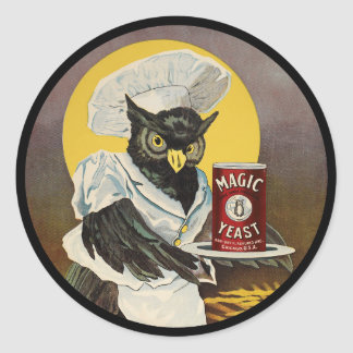 Owl's Magic Yeast Classic Round Sticker