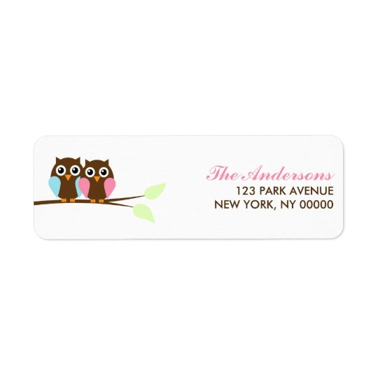 Owls on a Branch Return Address Labels
