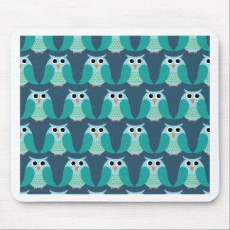Owls, Owls, Owls! - Blue Mouse Pad