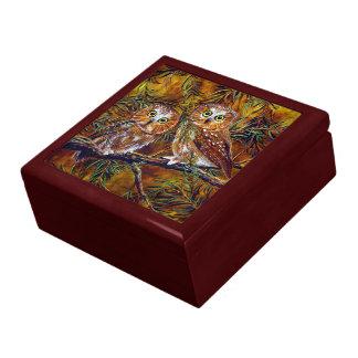 Owls Painting Keepsake & Jewelry Gift Box