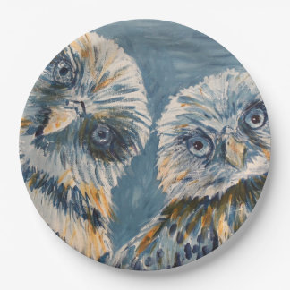 Owls Paper Plate