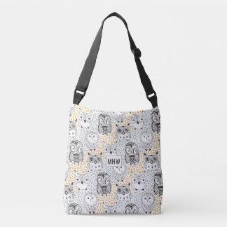 Owls Pattern custom monogram bags