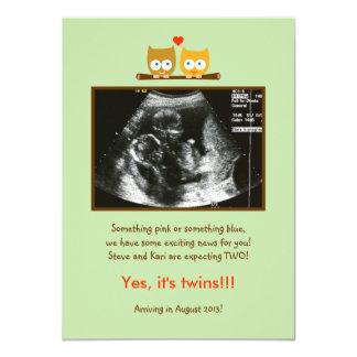 Owls Photo Pregnancy Announcement