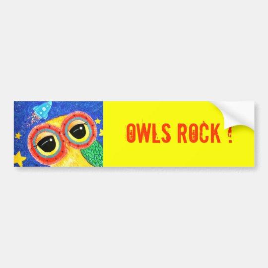 Owls Rock Bumper Sticker