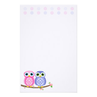 Owls (Today's Best Award) Stationery Paper