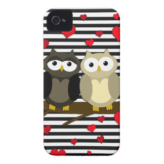Owls - Valentines day design iPhone 4 Case-Mate Case