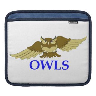 OWLS white i-pad sleeve Sleeve For iPads