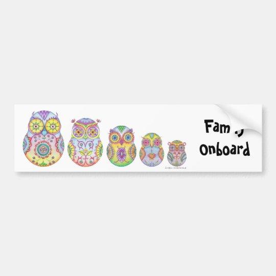 'Owlushka' Family Bumper Sticker