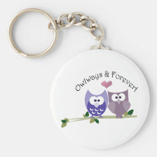 Owlways and Forever! Cute Owl design Keychain