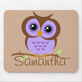 Owly Mousepad personnalisé par pourpre Tapis De Souris