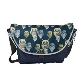 Owly Pattern Messenger Bags