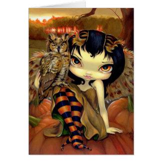 """Owlyn in Autumn"" Greeting Card"