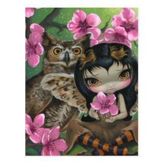 """""""Owlyn in the Springtime"""" Postcard"""