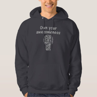 Own your awesomeness light bulb Light grey hoodie