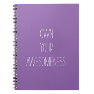 Own Your Awesomeness- Positive Notebook