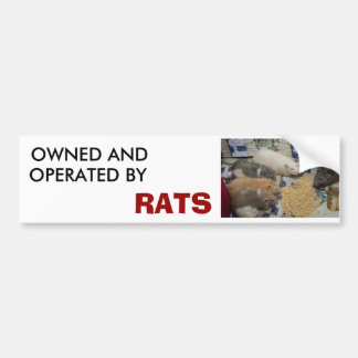 owned and operated by RATS Bumper Sticker