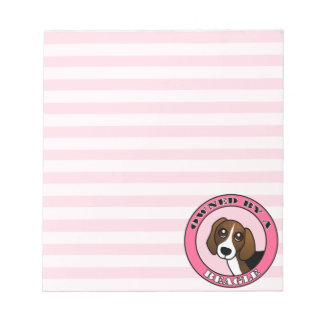 Owned by A  Beagle - Pink Notepad