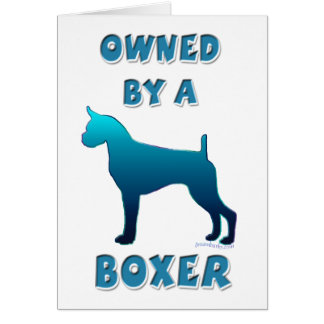 Owned by a Boxer Card