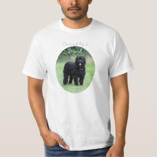 Owned by a Briard dog unisex t-shirt, gift idea T-Shirt