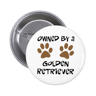 Owned By A Golden Retriever Pinback Buttons