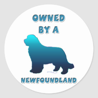 Owned by a Newfoundland Classic Round Sticker