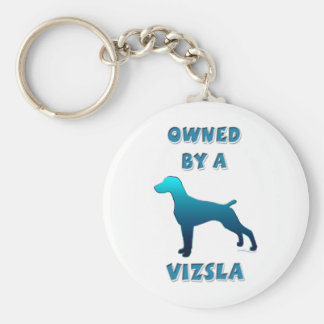 Owned by a Vizsla Keychain