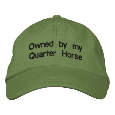 Owned by my QUARTER HORSE Cap