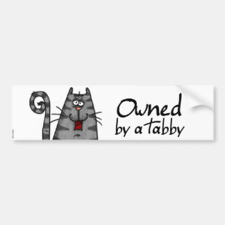 owned tabby bumper sticker