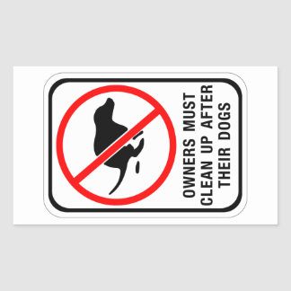 Owners Must Clean Up, Sign, Australia Sticker