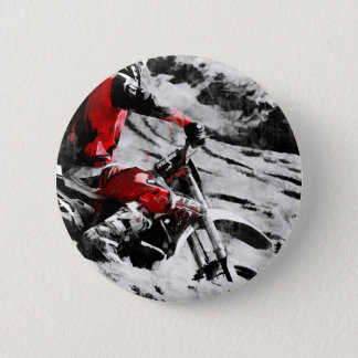 Owning The Mountain  -  Motocross Dirt-Bike Racer 2 Inch Round Button