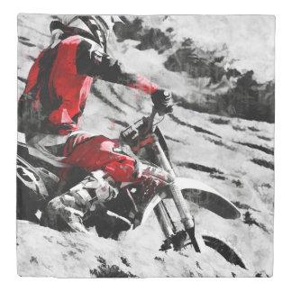Owning The Mountain  -  Motocross Dirt-Bike Racer Duvet Cover