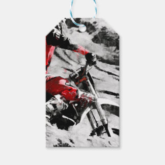 Owning The Mountain  -  Motocross Dirt-Bike Racer Pack Of Gift Tags