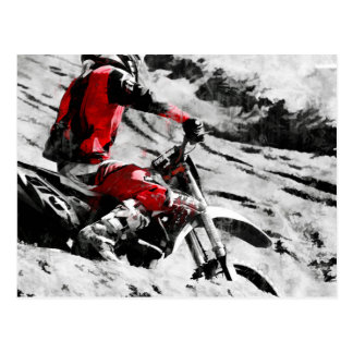 Owning The Mountain  -  Motocross Dirt-Bike Racer Postcard