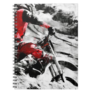 Owning The Mountain  -  Motocross Dirt-Bike Racer Spiral Notebook