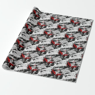 Owning The Mountain  -  Motocross Dirt-Bike Racer Wrapping Paper