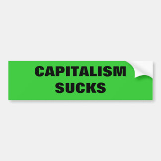 #OWS CAPITALISM SUCKS BUMPER STICKER