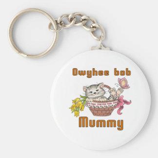 Owyhee bob Cat Mom Keychain