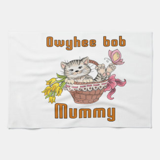 Owyhee bob Cat Mom Kitchen Towel