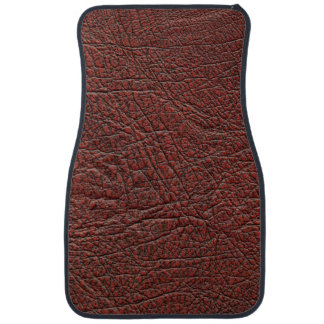 Ox Blood Leather Fine Grain Burnt Red Brown Auto Mat