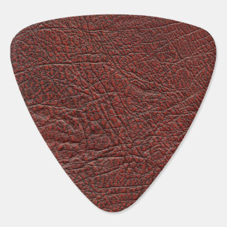 Ox Blood Leather Fine Grain Burnt Red Brown Guitar Pick