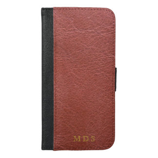 Oxblood Faux Leather iPhone Wallet Case
