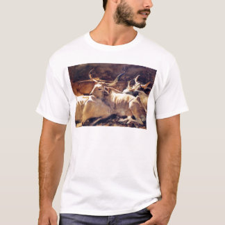Oxen in Repose by John Singer Sargent T-Shirt