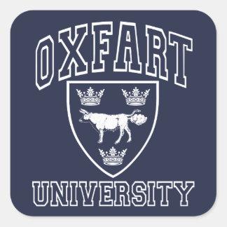 Oxfart University Crest Square Sticker