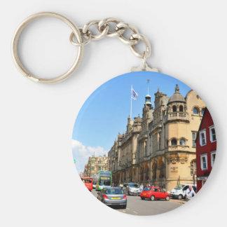 Oxford Basic Round Button Keychain