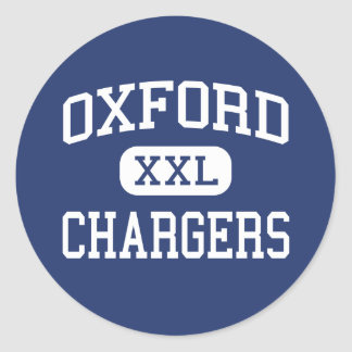 Oxford Chargers Middle Oxford Mississippi Classic Round Sticker