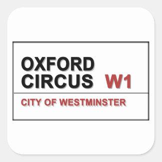 Oxford Circus Lodon England Square Sticker
