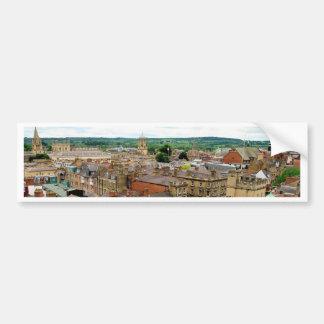 Oxford City Skyline Bumper Sticker