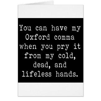 Oxford Comma Card