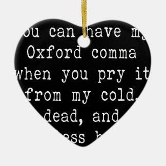 Oxford Comma Ceramic Heart Ornament