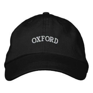OXFORD EMBROIDERED BASEBALL CAP